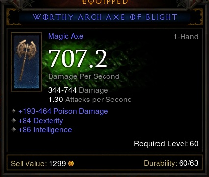 Worthy Arch Axe of Blight