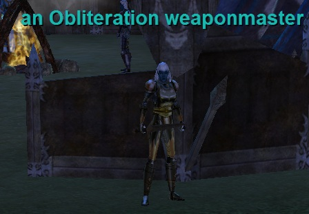 An obliteration Weaponmaster