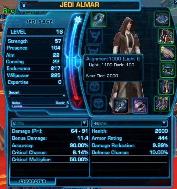 Swtor Character Window