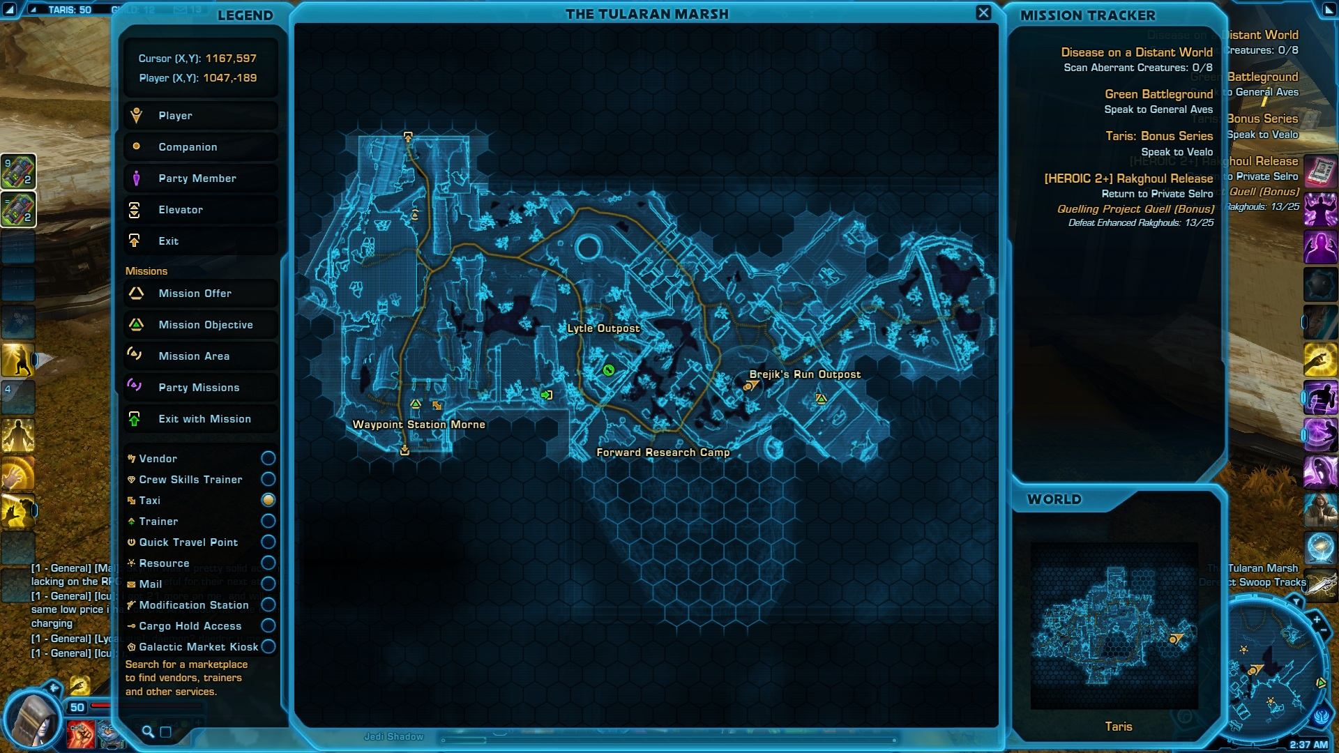 Taris Cunning Datacron location on the map