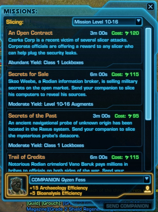 STAR WARS: The Old Republic - Companion Bugs in 5 10