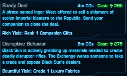 Underworld Trading Rank 1 Missions