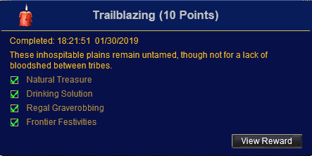 Trailblazing - EoK Collectibles Achievement