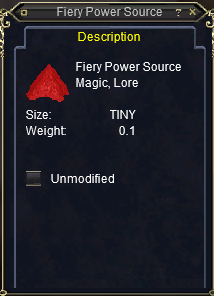 Fiery Power Source