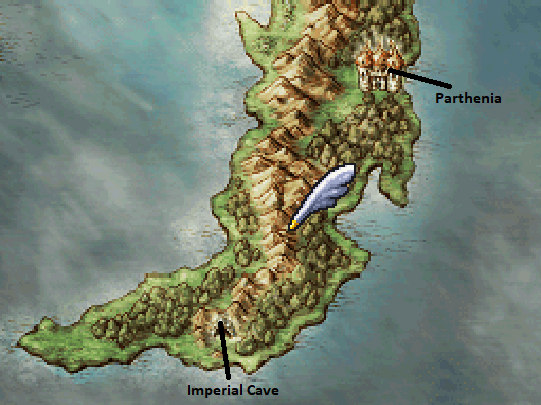 Imperial Cave and Parthenia Map Locations