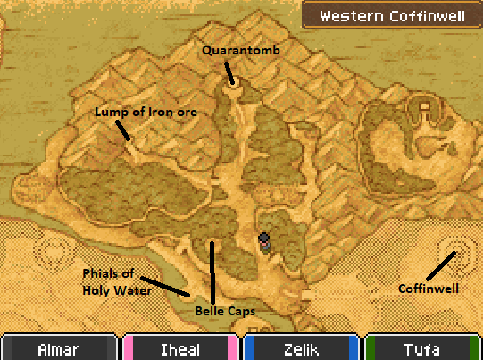 Coffinwell Map Locations