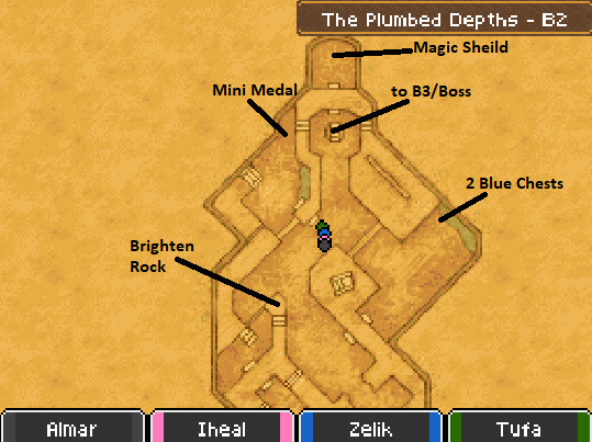 The Plumbed Depths B2 Map