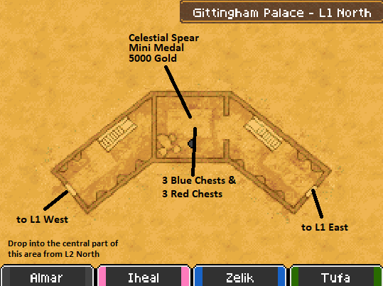 Gittingham Palace L1 North Map Locations
