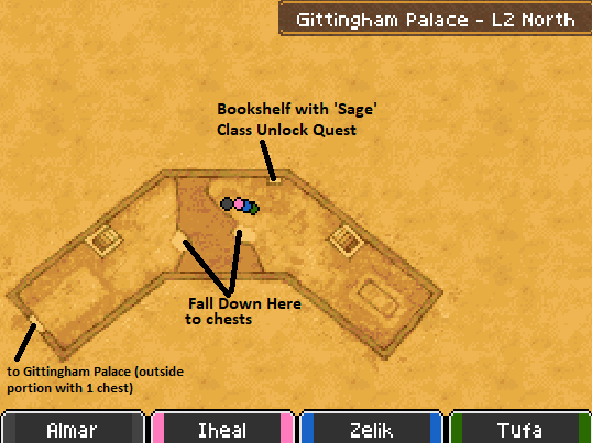 Gittingham Palace L2 North Map Locations