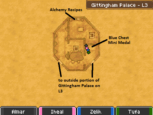 Gittingham Palace L3 Map Locations