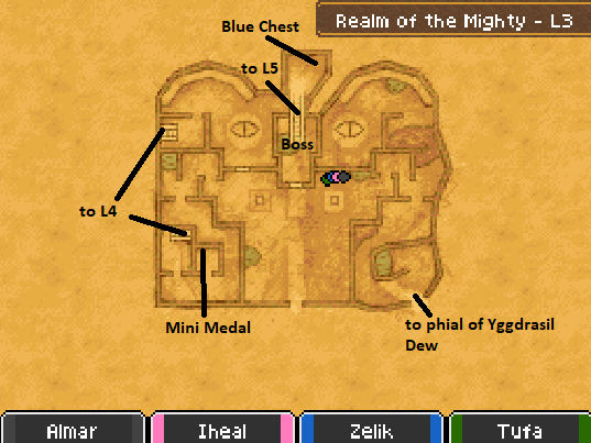Realm of the Mighty L3 Map Locations