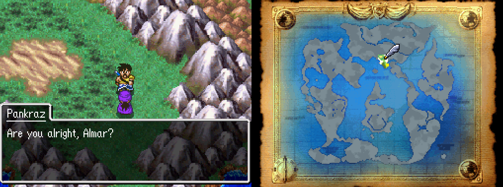 Dragon Quest V First Time on World Map