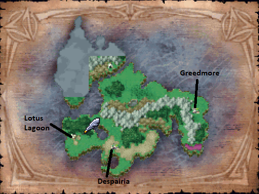 Dread Realm Map Locations
