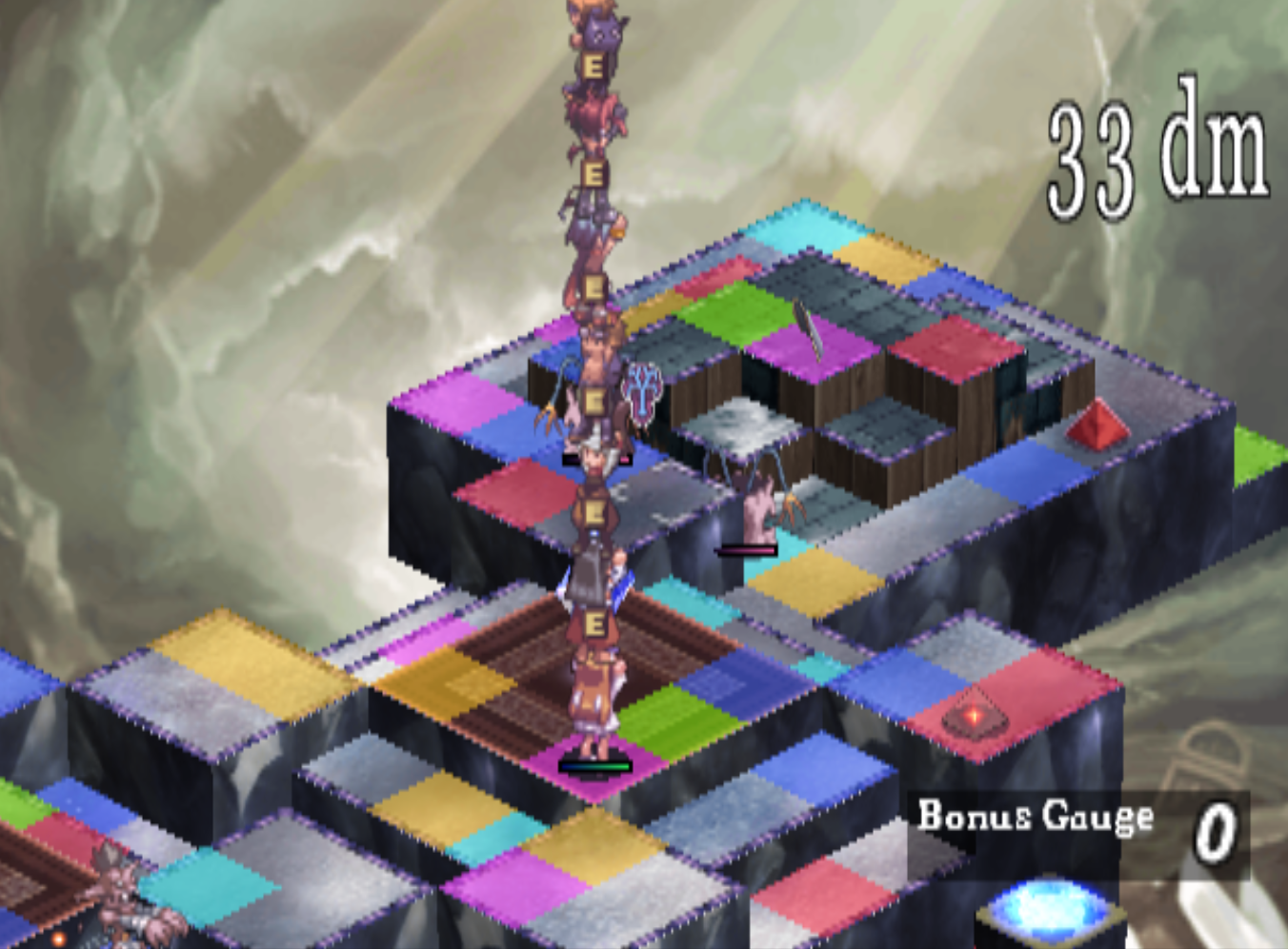 Disgaea Character Stacking