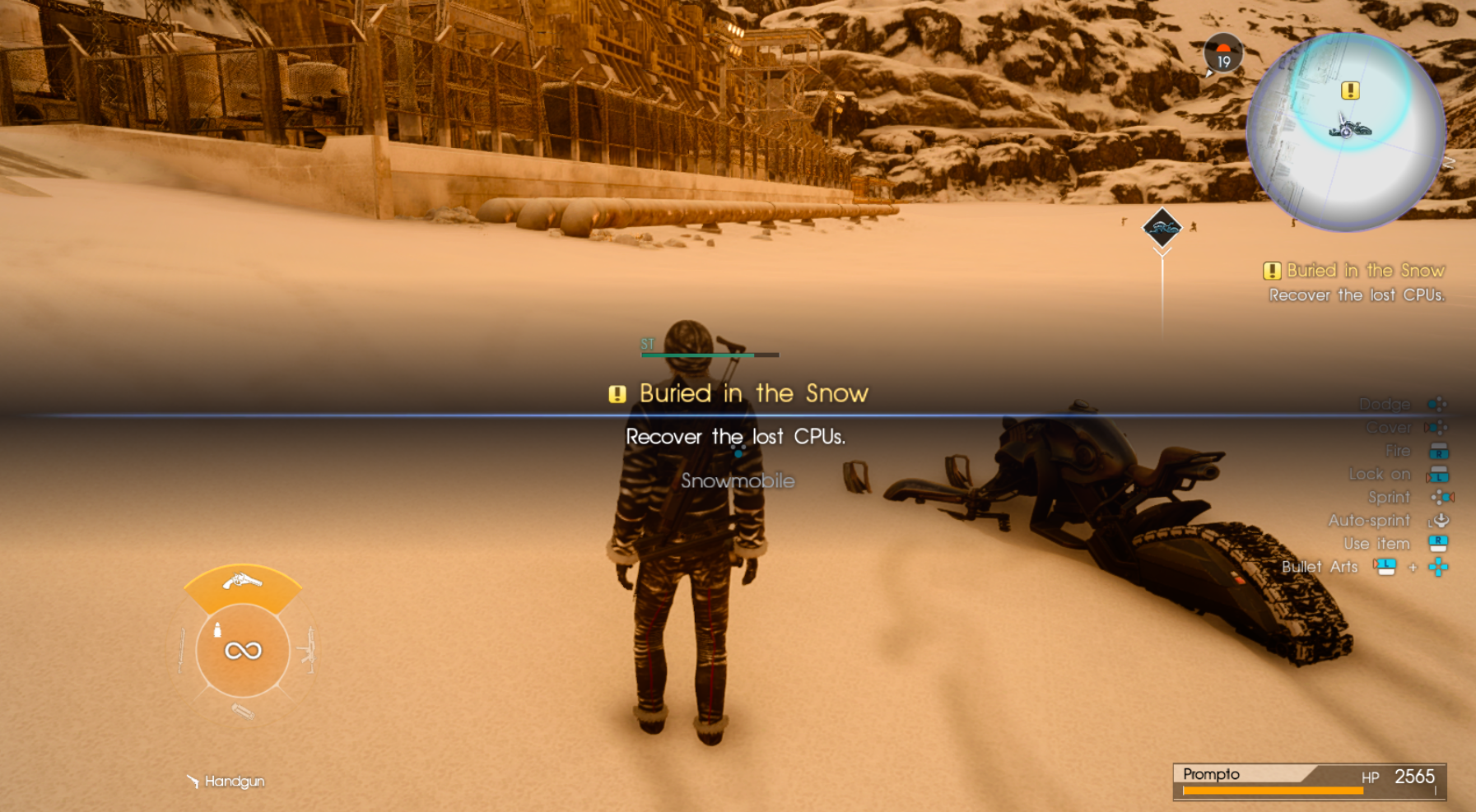 Buried in the snow quest start