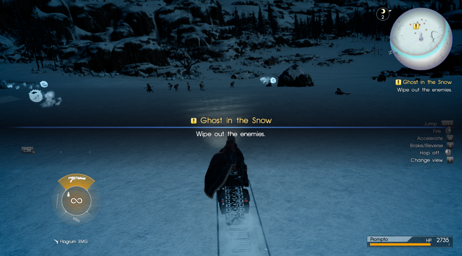 Ghost in the Snow Quest Start