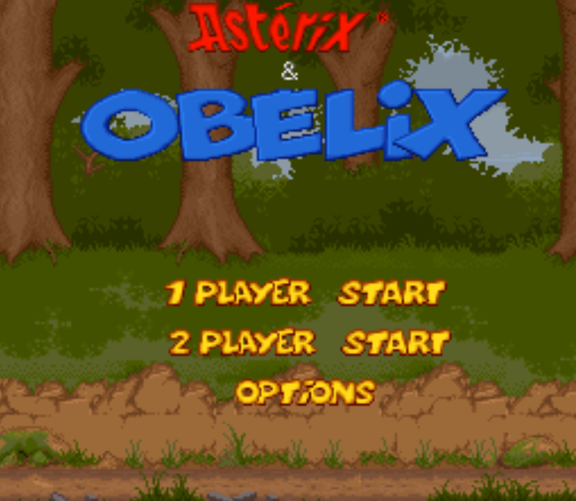 Asterix and Obelix Title Screen