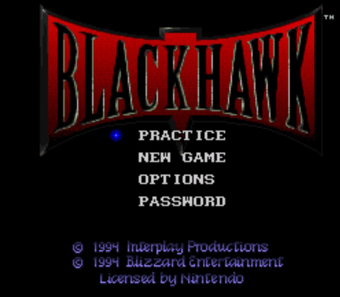 Blackhawk Title Screen