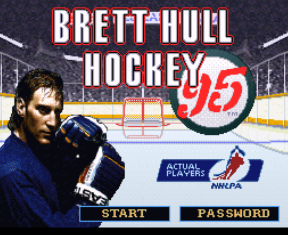 Brett Hull Hockey 95 Title Screen