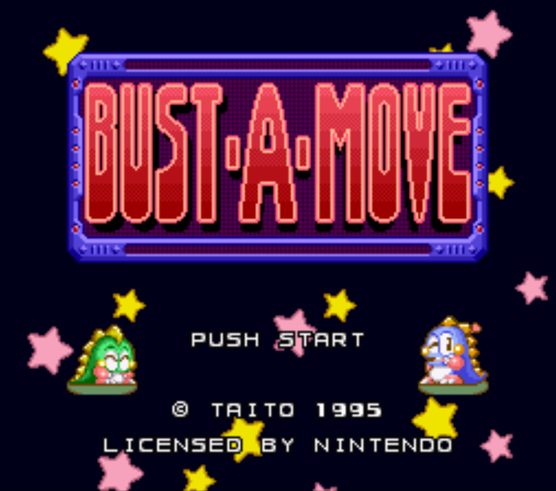 Bust-A-Move Title Screen
