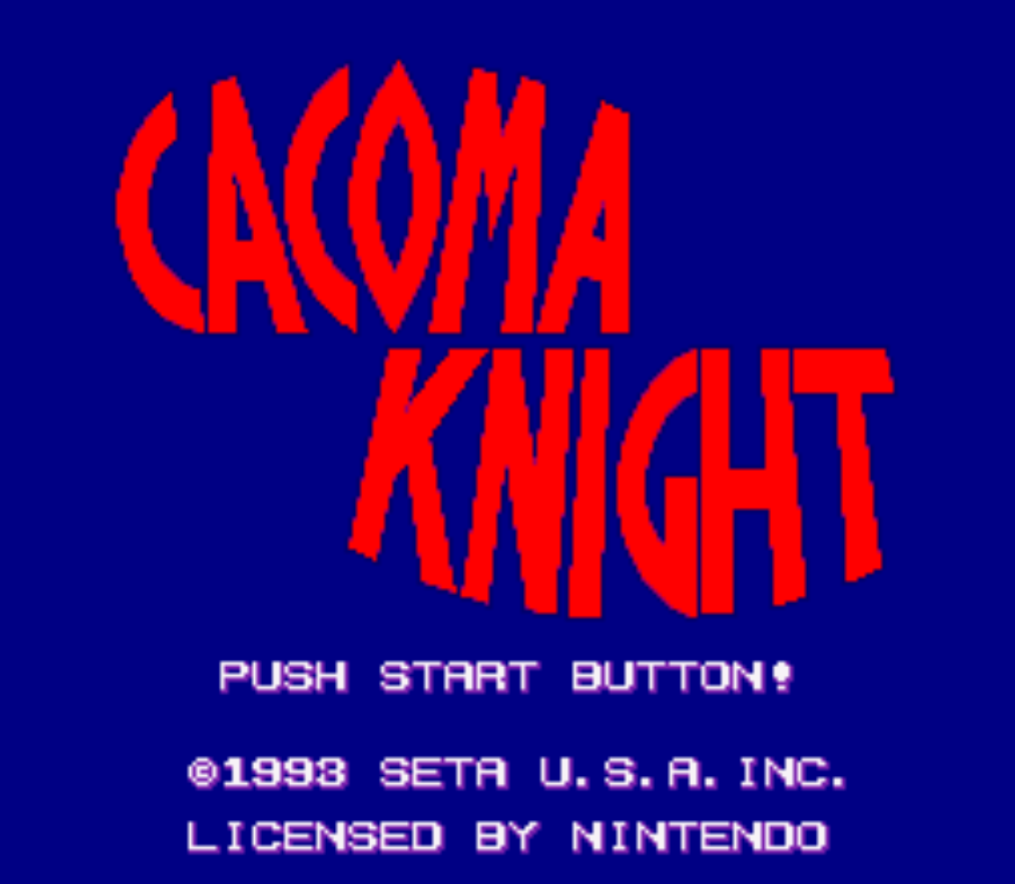 Cacoma Knight in Bizyland Title Screen