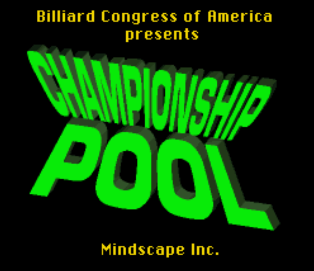 Championship Pool Title Screen