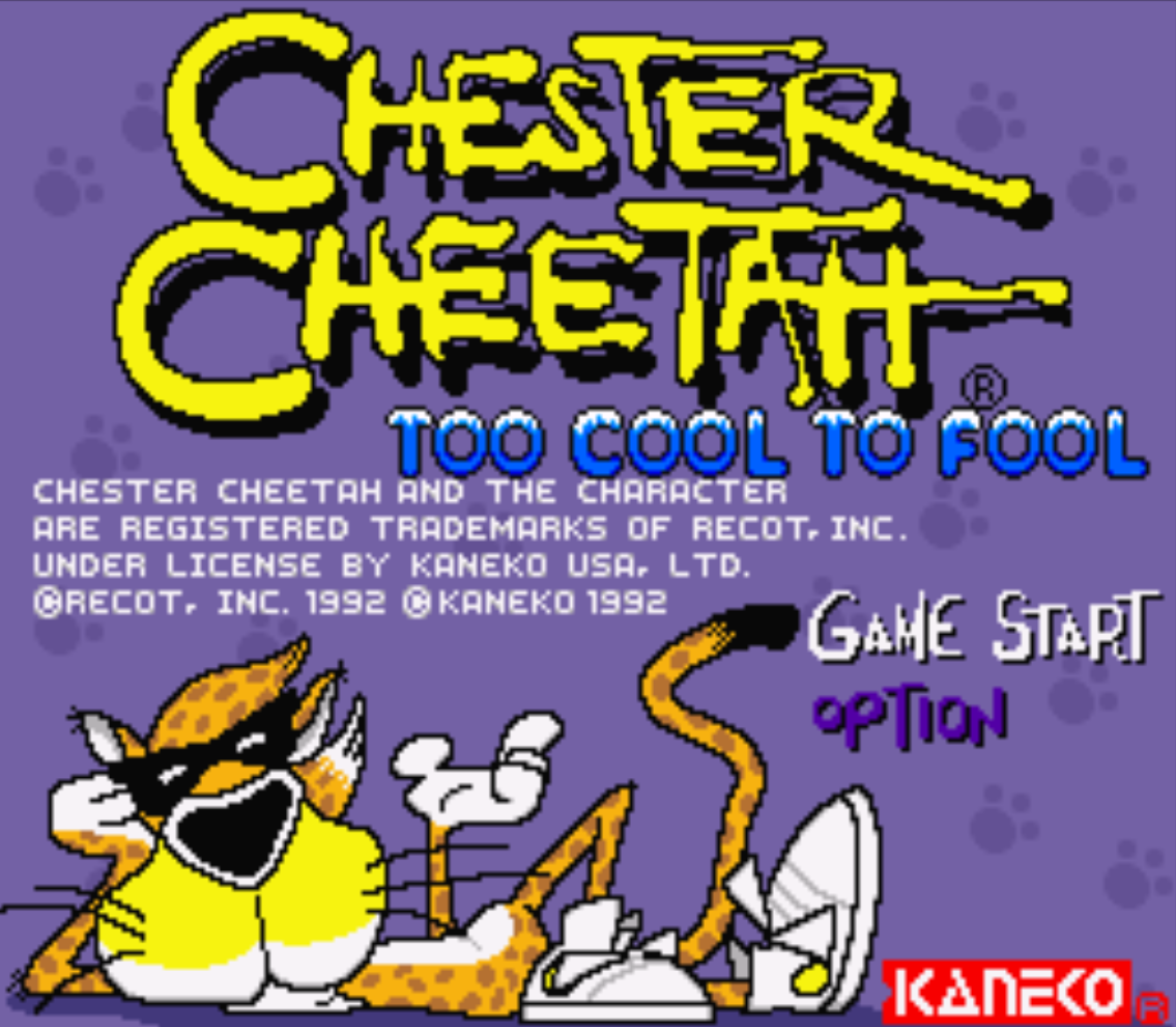 Chester Cheetah Too Cool to Fool Title Screen