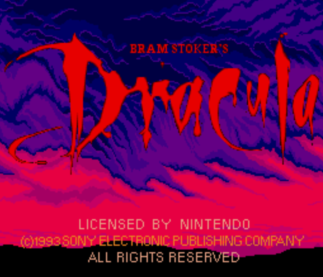 Dracula Title Screen