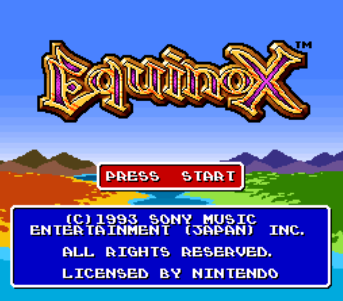 Equinox Title Screen