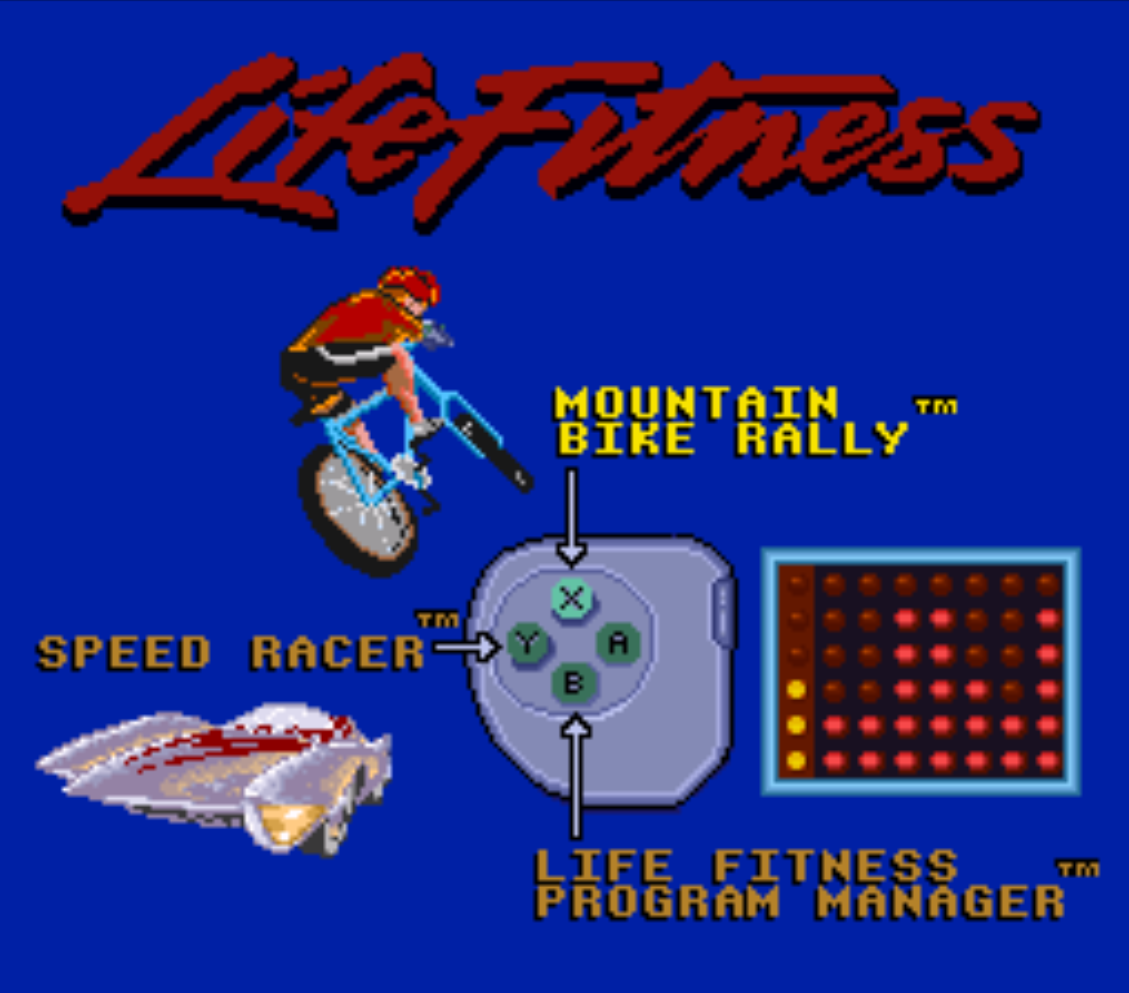 Exertainment Mountain Bike Rally and Speed Racer