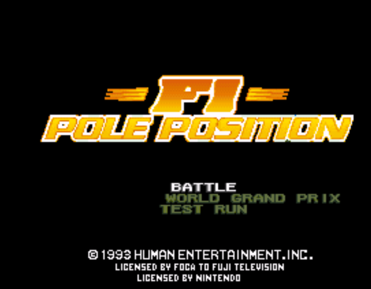 F1 Pole Position Title Screen