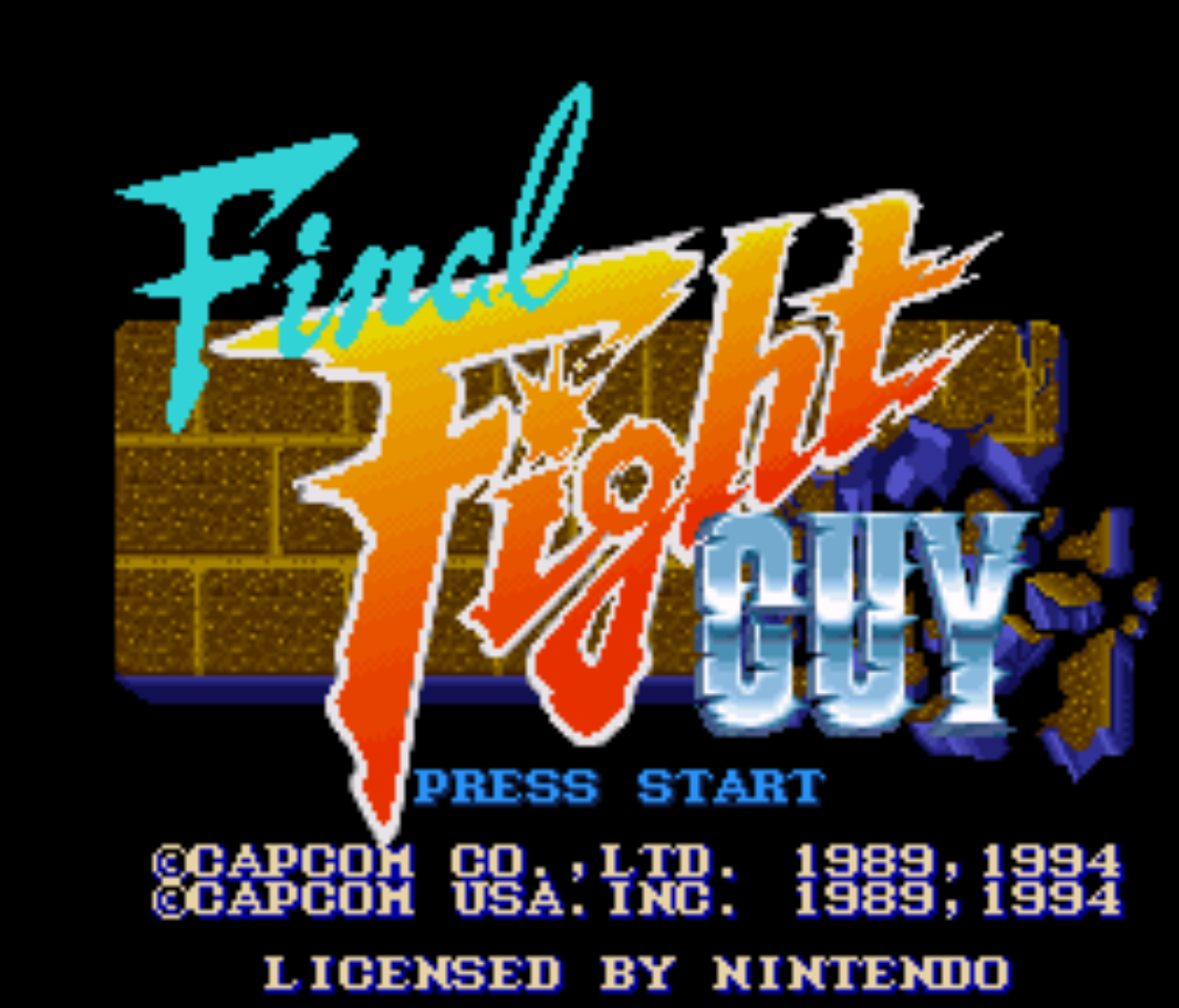Final Fight Guy Title Screen