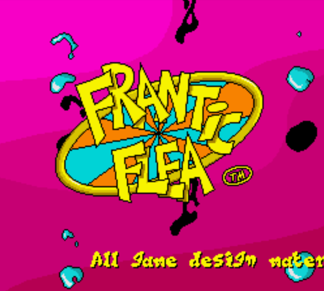 Frantic Flea Title Screen