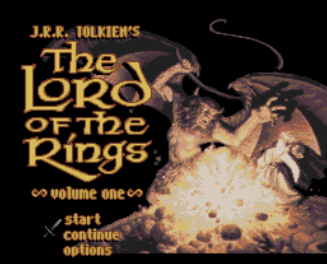 JRR Tolkiens The Lord of the Rings Title Screen