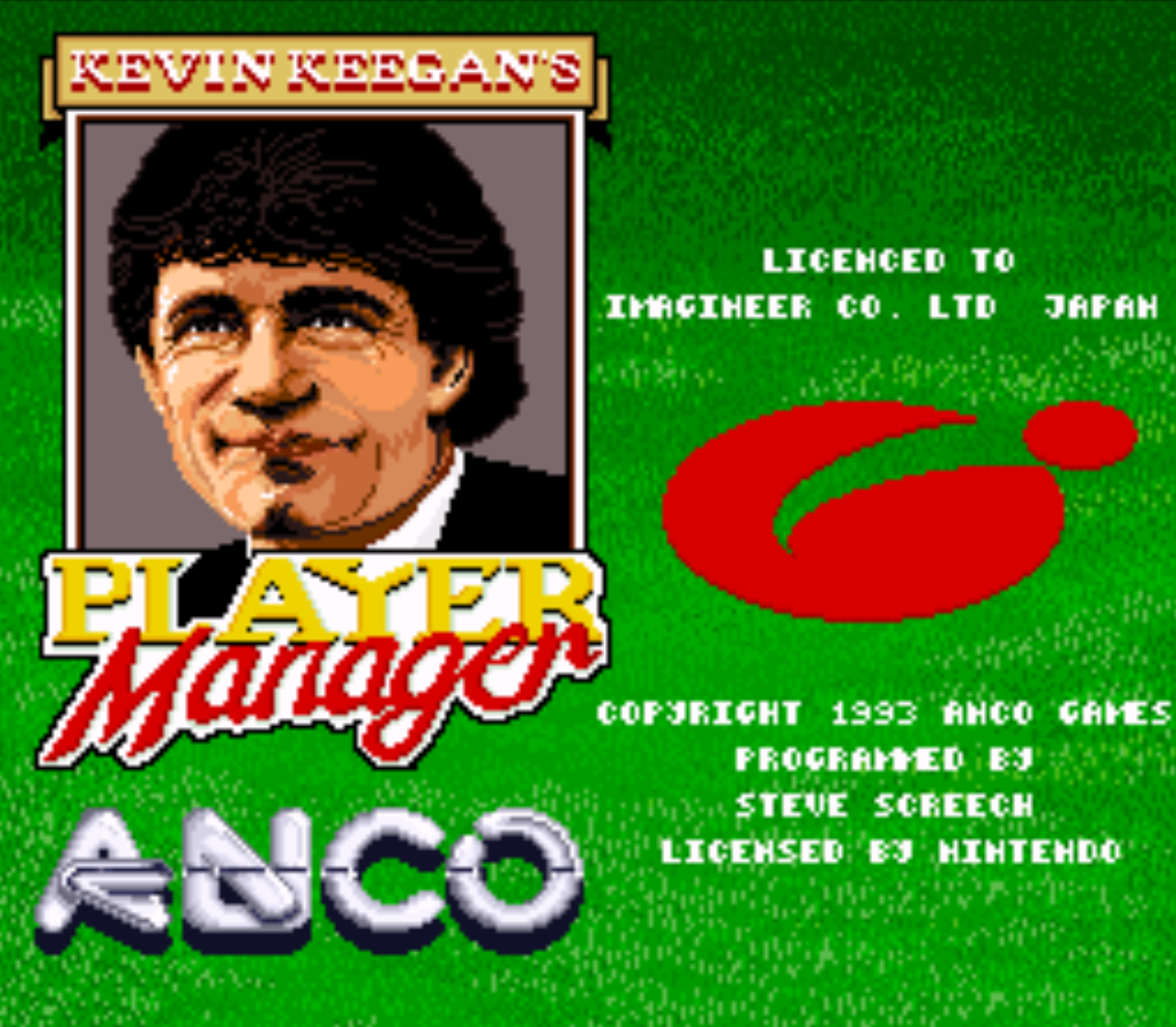 Kevin Keegans Player Manager Title Screen