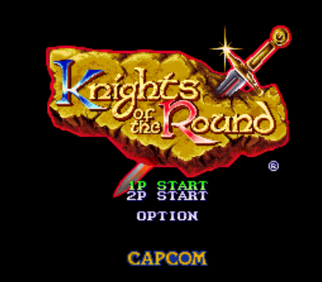Knights of the Round Title Screen